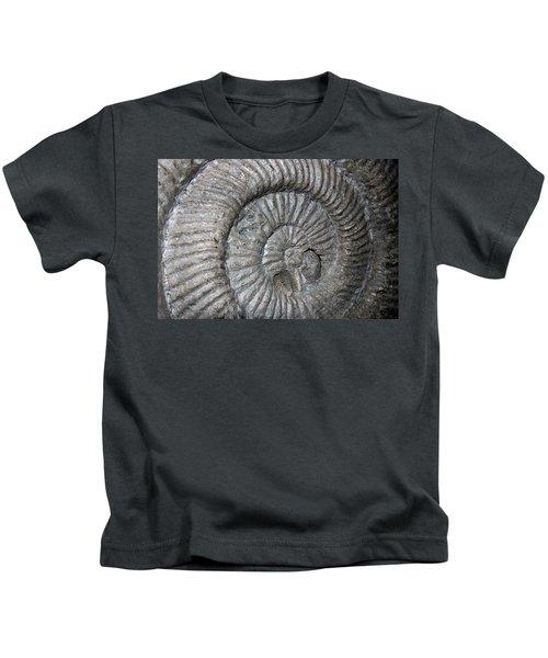 Fossil Spiral  Kids T-Shirt by LeeAnn McLaneGoetz McLaneGoetzStudioLLCcom