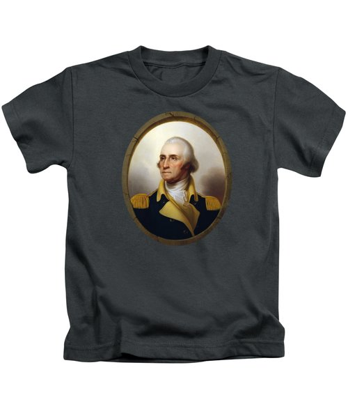 General Washington - Porthole Portrait  Kids T-Shirt by War Is Hell Store