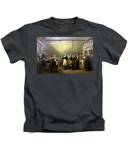 General Washington Resigning His Commission Kids T-Shirt by War Is Hell Store