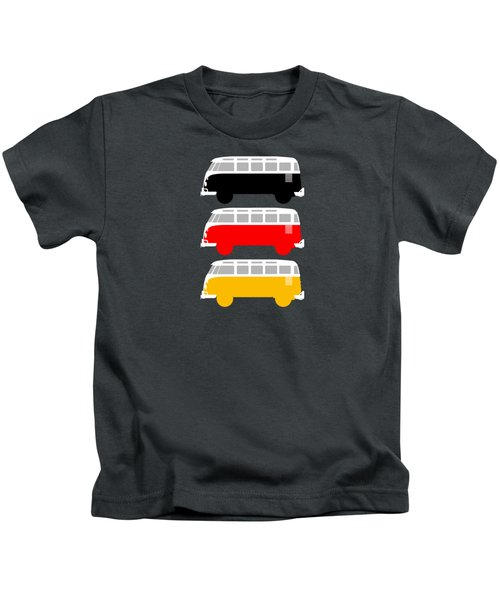 German Icon - Vw T1 Samba Kids T-Shirt by Mark Rogan