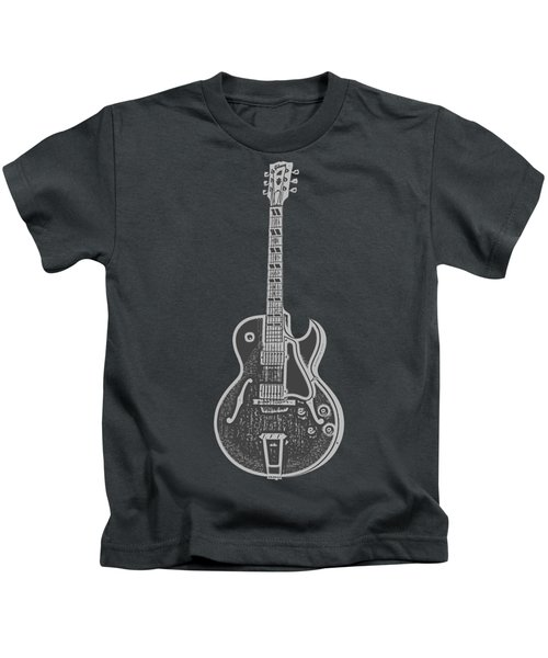 Gibson Es-175 Electric Guitar Tee Kids T-Shirt by Edward Fielding