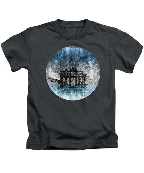 Graphic Art Berlin Brandenburg Gate Kids T-Shirt by Melanie Viola