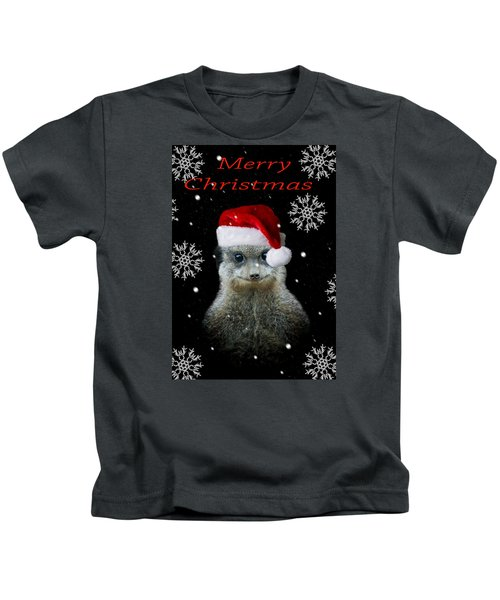 Happy Christmas Kids T-Shirt by Paul Neville