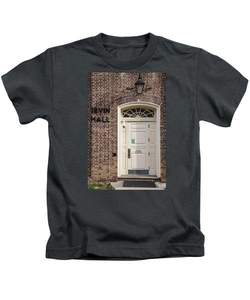 Irvin Hall Penn State  Kids T-Shirt by John McGraw