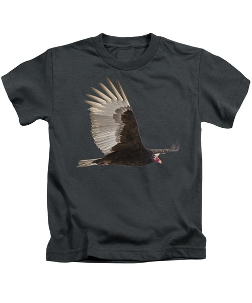 Isolated Turkey Vulture 2014-1 Kids T-Shirt by Thomas Young