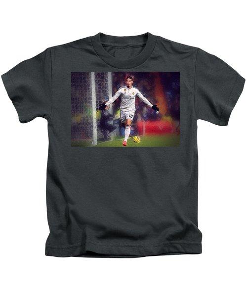 James Rodrigez Kids T-Shirt by Semih Yurdabak