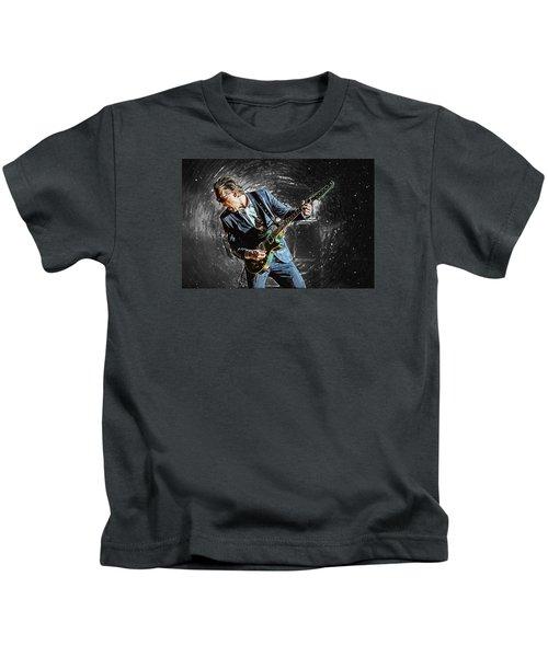 Joe Bonamassa Kids T-Shirt by Taylan Apukovska