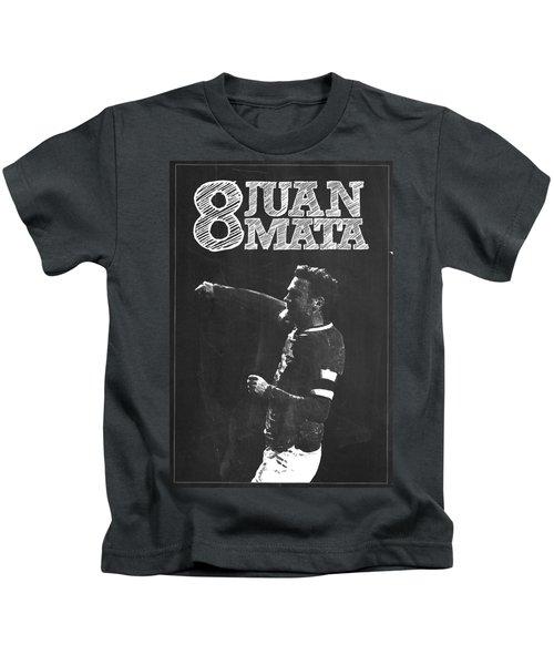 Juan Mata Kids T-Shirt by Semih Yurdabak