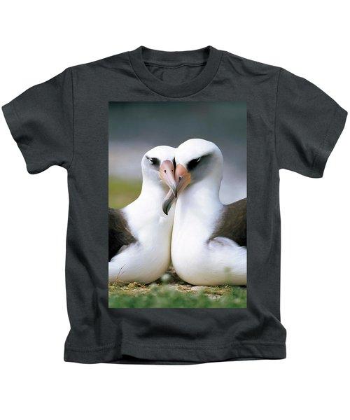 Laysan Albatross Phoebastria Kids T-Shirt by Tui De Roy