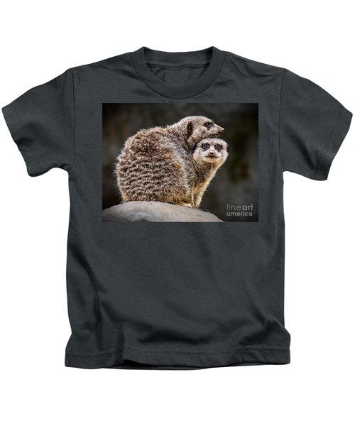Lean On Me Kids T-Shirt by Jamie Pham