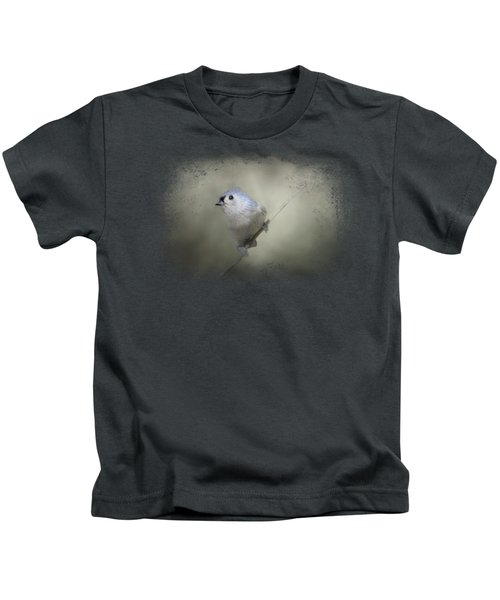 Little Tufted Titmouse Kids T-Shirt by Jai Johnson