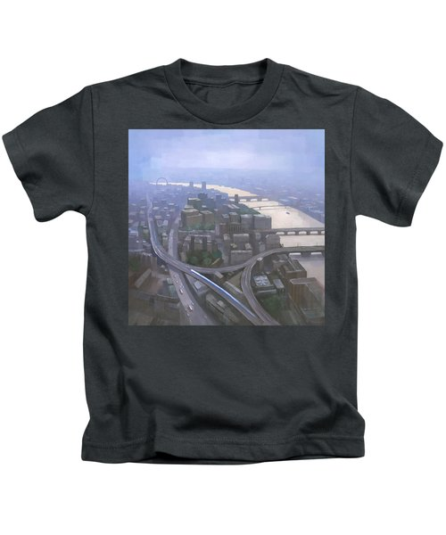London, Looking West From The Shard Kids T-Shirt by Steve Mitchell