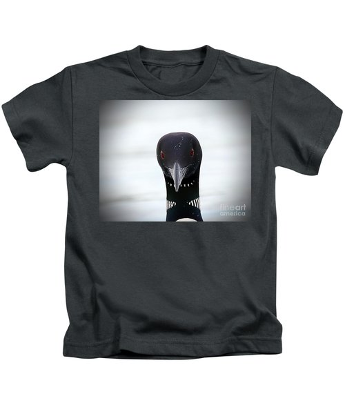 Loon Stare Kids T-Shirt by Peter Gray