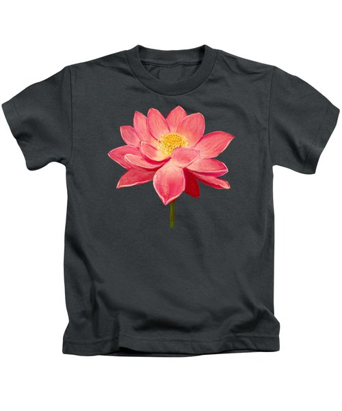 Lotus Flower Kids T-Shirt by Anastasiya Malakhova