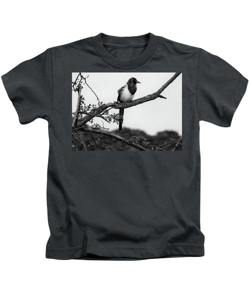 Magpie  Kids T-Shirt by Philip Openshaw