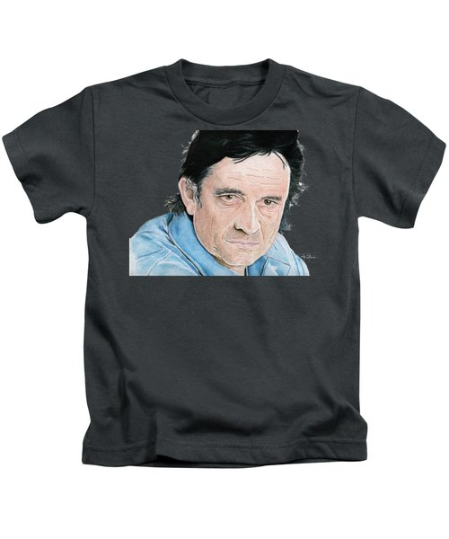 Man In Black Kids T-Shirt by Bill Richards