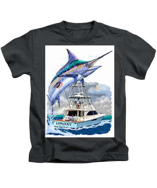 Marlin Commission  Kids T-Shirt by Carey Chen