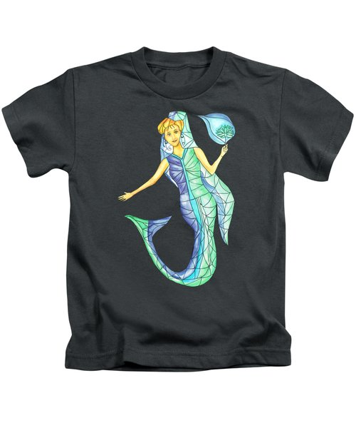 Mermaid Stories B Kids T-Shirt by Thecla Correya