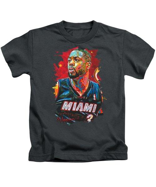 Miami Heat Legend Kids T-Shirt by Maria Arango