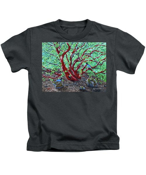 Morning Manzanita Kids T-Shirt by Laura Iverson