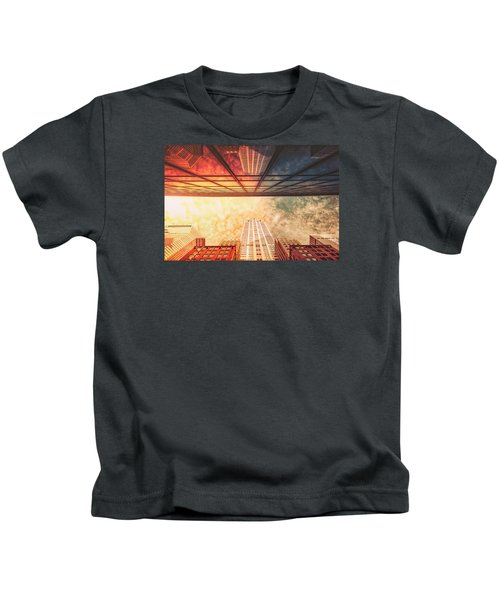 New York City - Chrysler Building Kids T-Shirt by Vivienne Gucwa
