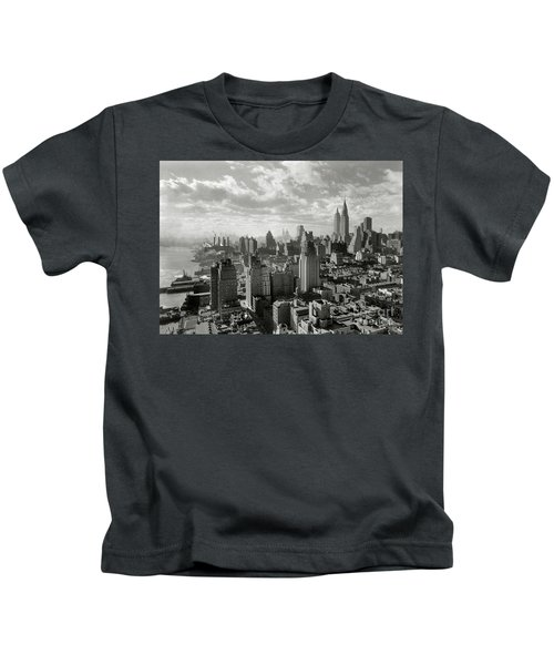 New Your City Skyline Kids T-Shirt by Jon Neidert
