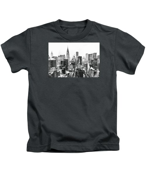 Nyc Snow Kids T-Shirt by Vivienne Gucwa