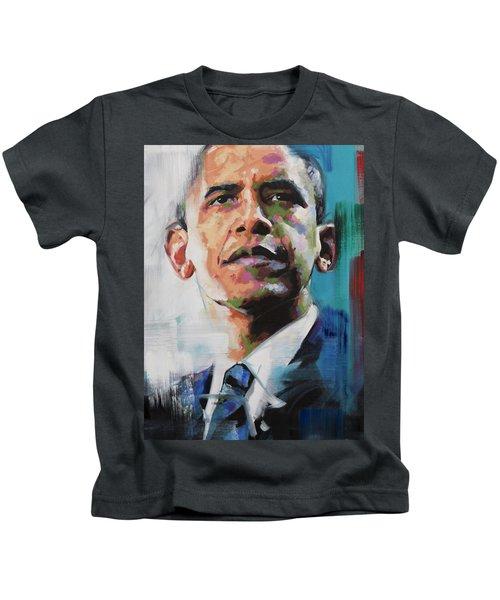 Obama Kids T-Shirt by Richard Day