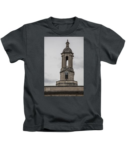 Old Main From Front Clock Kids T-Shirt by John McGraw