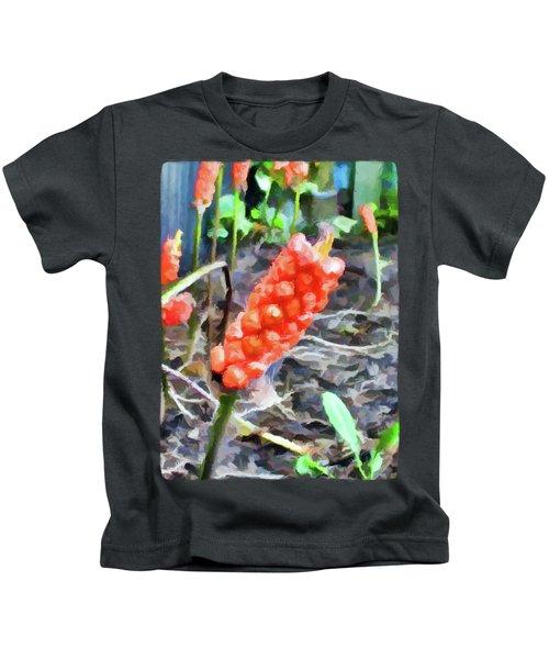 Orange Things In The Corner Kids T-Shirt by Jackie VanO