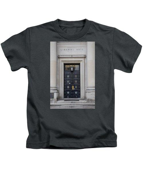 Penn State University Liberal Arts Door  Kids T-Shirt by John McGraw