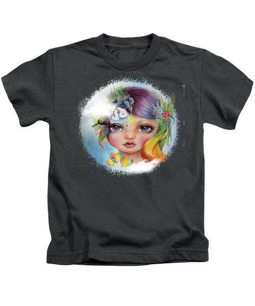 Rainbow Rosalie  Kids T-Shirt by Sheena Pike