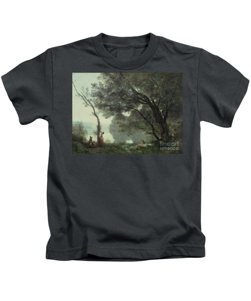 Recollections Of Mortefontaine Kids T-Shirt by Jean Baptiste Corot