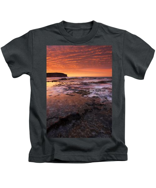 Red Tides Kids T-Shirt by Mike  Dawson