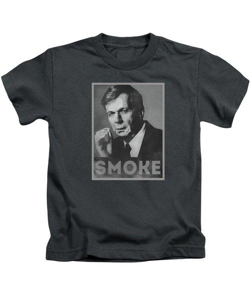 Smoke Funny Obama Hope Parody Smoking Man Kids T-Shirt by Philipp Rietz