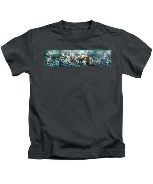 Something Fowl Afloat 2b Kids T-Shirt by Patrick Anthony Pierson