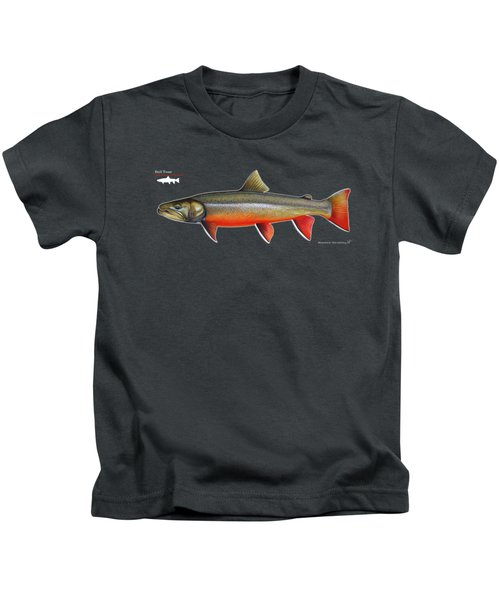 Spawning Bull Trout And Kokanee Salmon Kids T-Shirt by Nick Laferriere