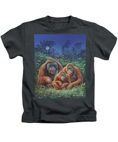 Sumatra Orangutans Kids T-Shirt by Hans Droog