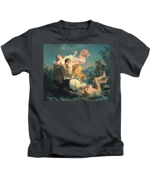 The Abduction Of Deianeira By The Centaur Nessus Kids T-Shirt by Louis Jean Francois Lagrenee