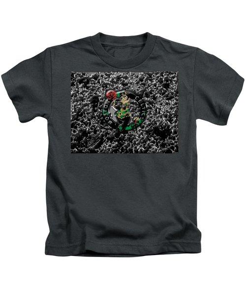 The Boston Celtics 1a Kids T-Shirt by Brian Reaves