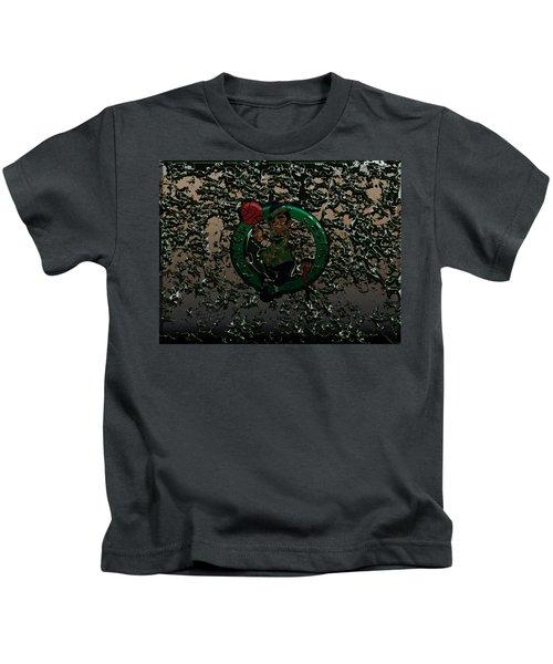 The Boston Celtics 1c Kids T-Shirt by Brian Reaves