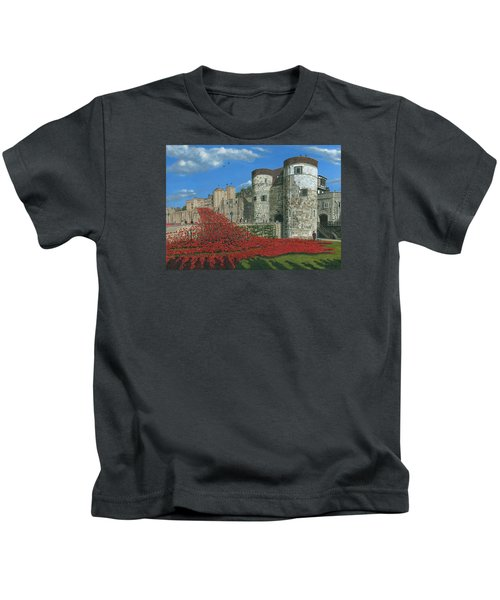 Tower Of London Poppies - Blood Swept Lands And Seas Of Red  Kids T-Shirt by Richard Harpum