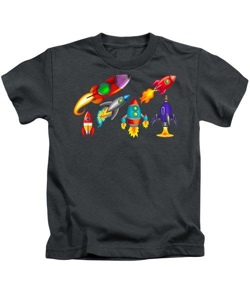Toy Rockets Kids T-Shirt by Brian Kemper