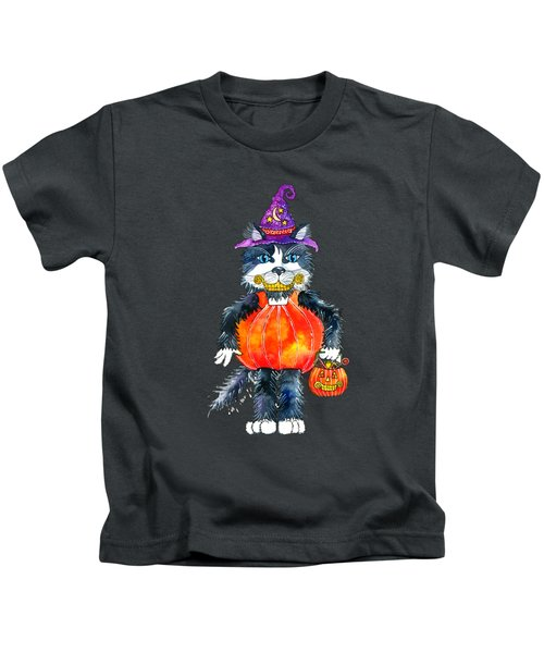 Trick Or Treat Kids T-Shirt by Shelley Wallace Ylst