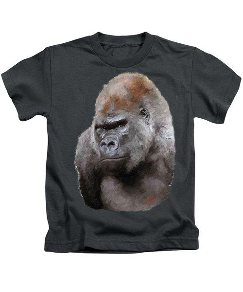 U Lookin At Me Kids T-Shirt by James Shepherd