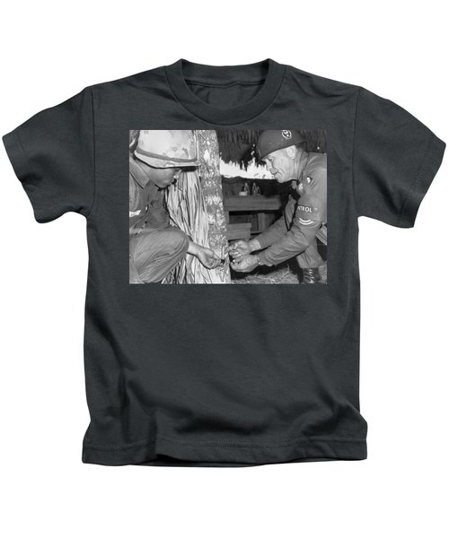 Viet Cong Booby Trap Kids T-Shirt by Underwood Archives