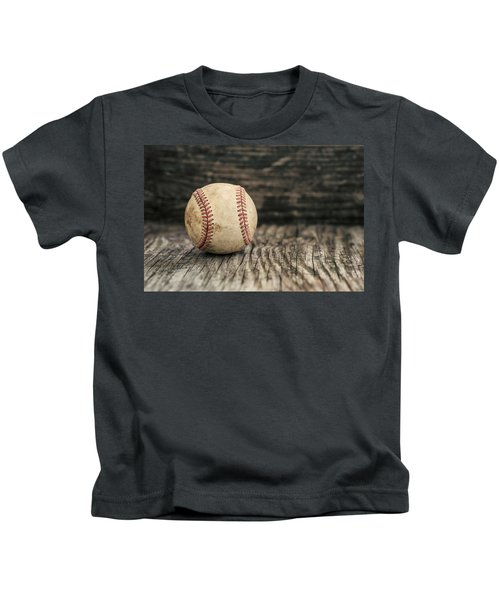 Vintage Baseball Kids T-Shirt by Terry DeLuco