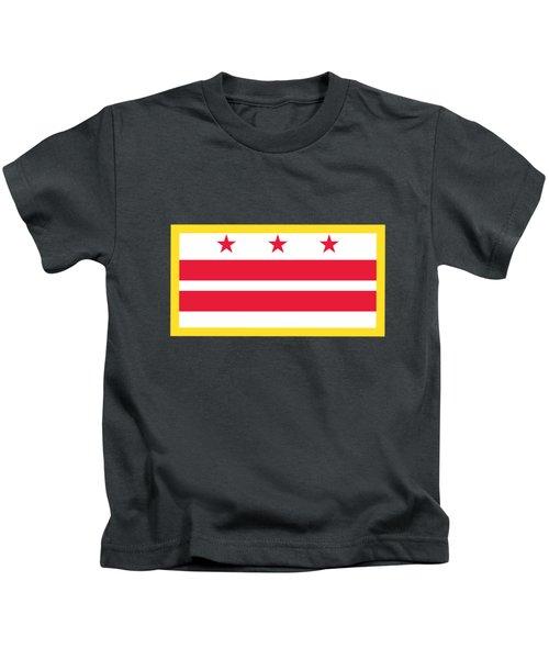 Washington, D.c. Flag Kids T-Shirt by Frederick Holiday
