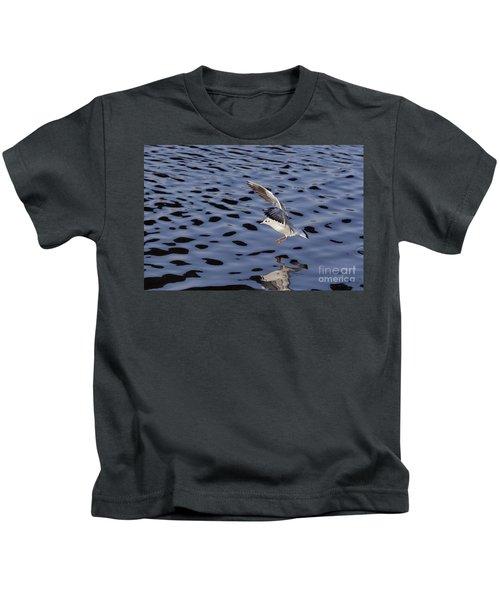 Water Alighting Kids T-Shirt by Michal Boubin
