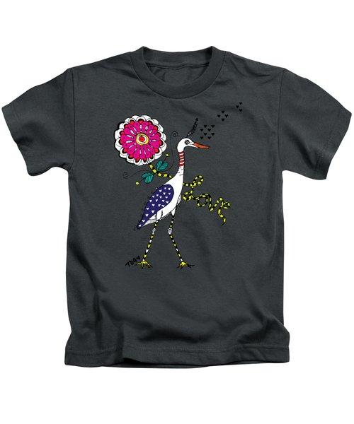 Weak Coffee Lovebird Kids T-Shirt by Tara Griffin